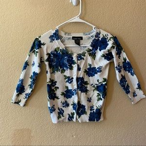 Floral 3/4 sleeve sweater